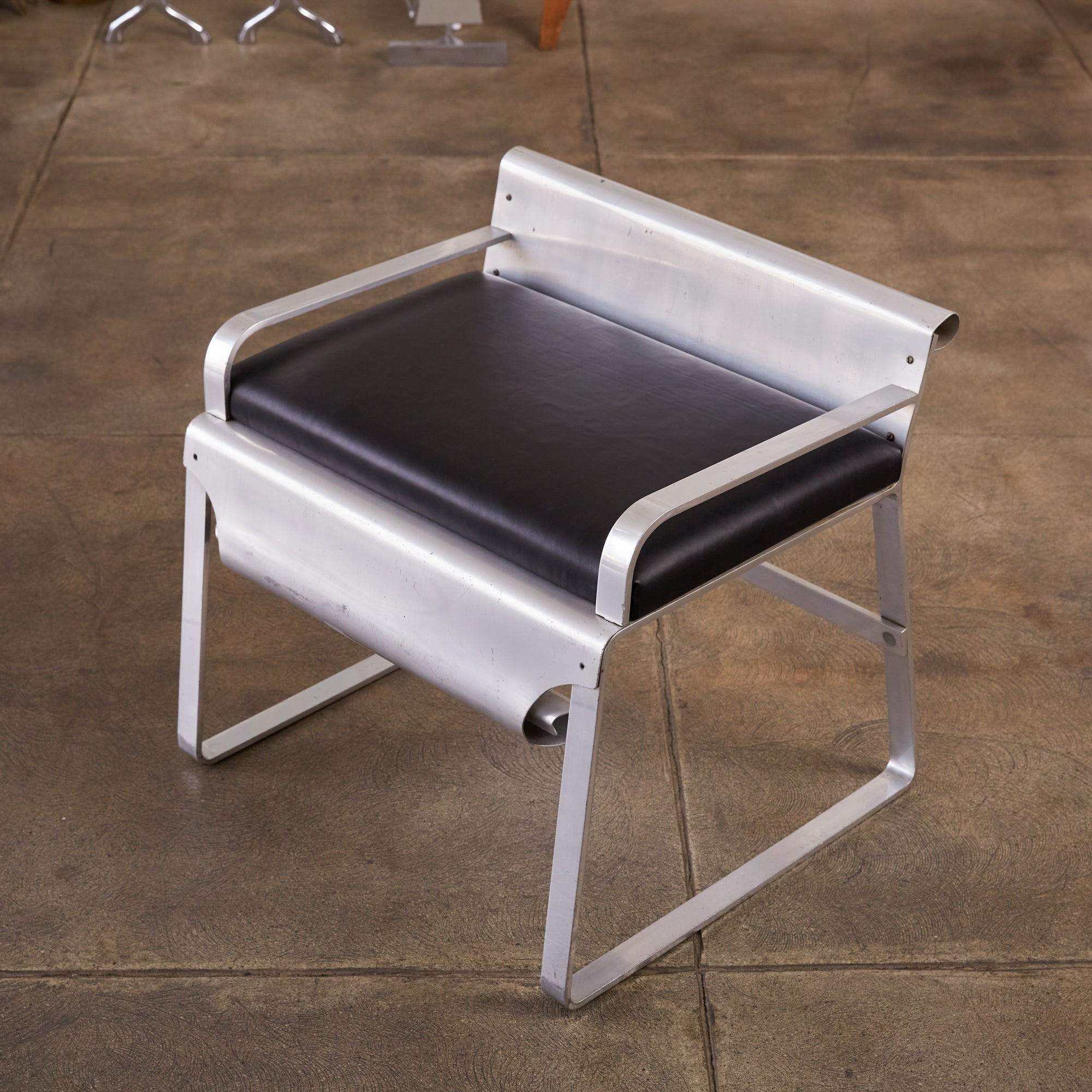 Sealuxe Vanity Stool with Leather Seat