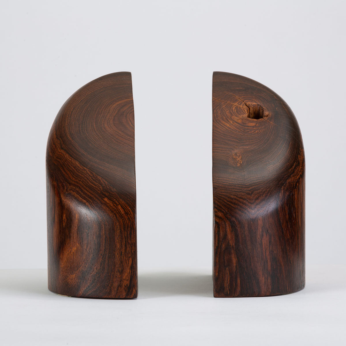 Don Shoemaker Bookends in Solid Cocobolo for Señal