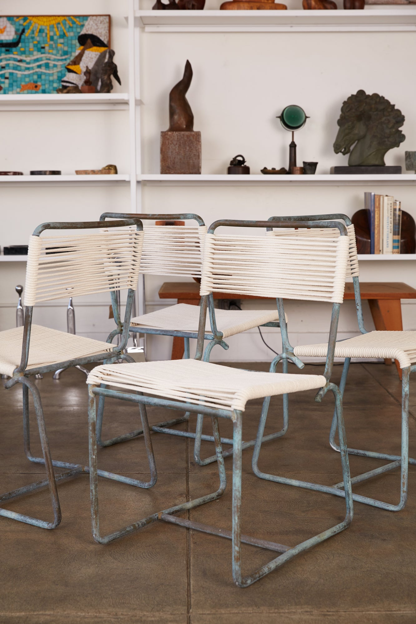 Walter Lamb for Brown Jordan Bronze Patio Dining Chair