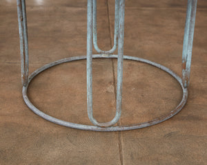Walter Lamb for Brown Jordan Bronze Patio Round Dining Table