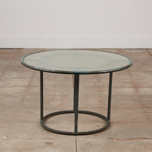 Walter Lamb for Brown Jordan Bronze Patio Round Side Table