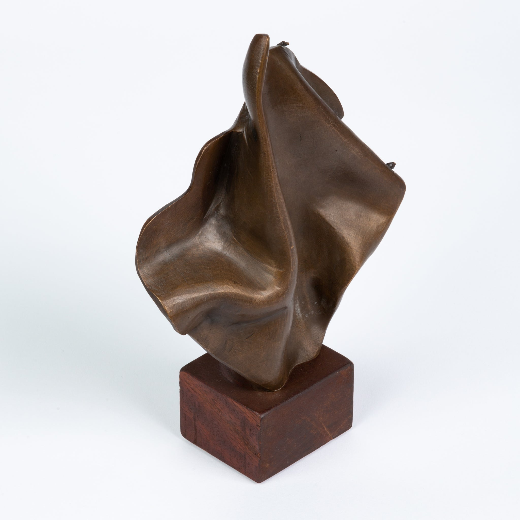 Abstract Draped Cloth Bronze Statuette