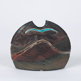 ON HOLD ** Half Moon Studio Pottery Vessel with Ebony Glaze