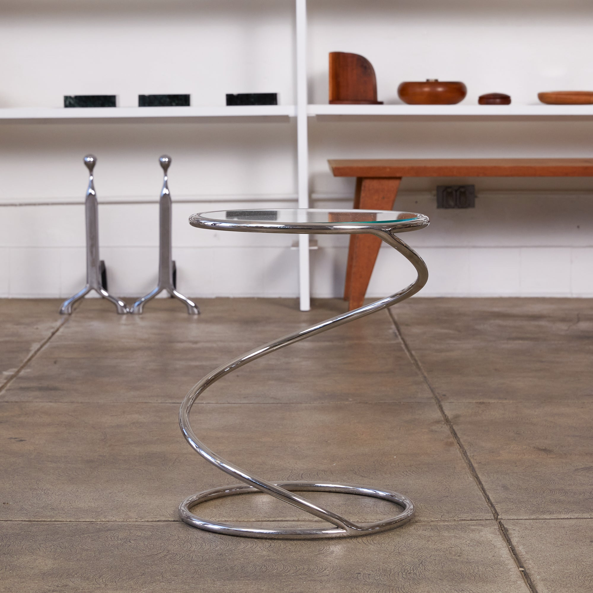 Brueton PS-12 Spiral Side Table
