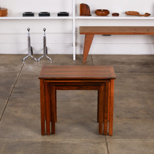 Set of Three Danish Rosewood Nesting Tables