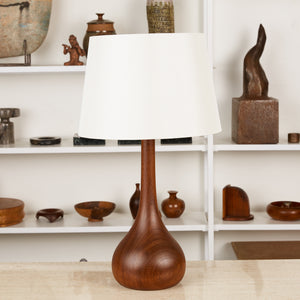 Turned Wood Table Lamp
