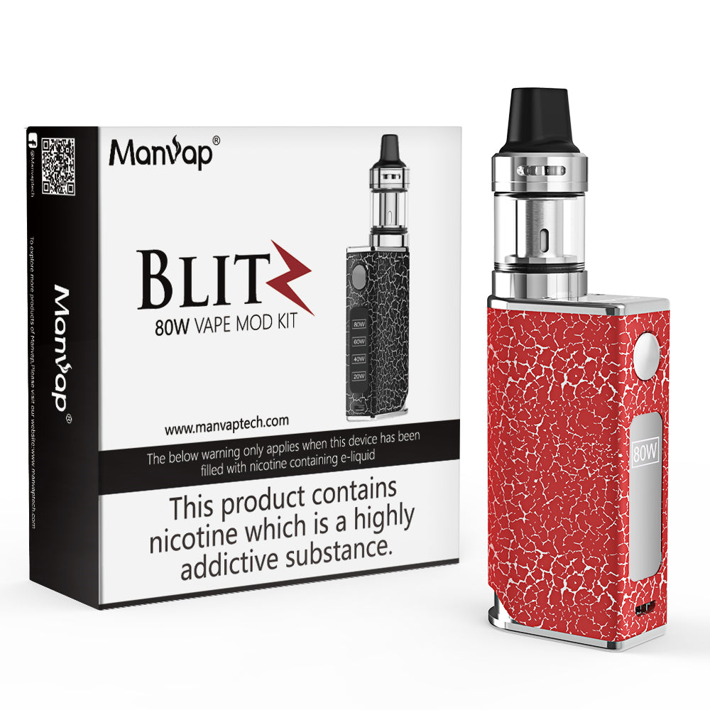 Manvap® BILT Powerful 80W E Cigarette Vape Box Mod Starter Kit Top Refill Vapour Electronic Cigarette