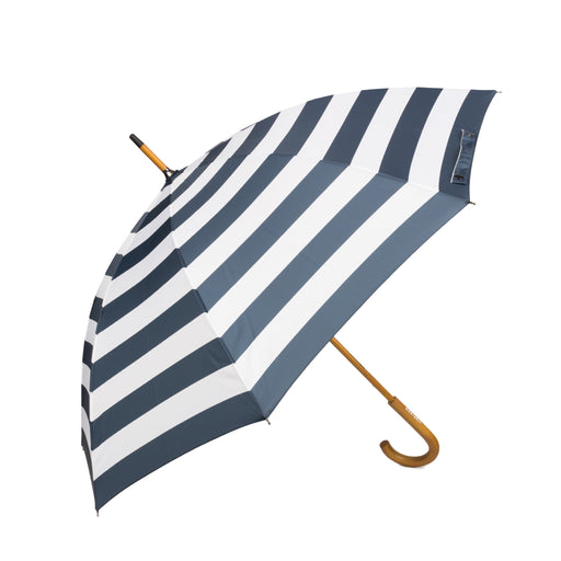 Commander Amalfi - Navy and White Striped Umbrella