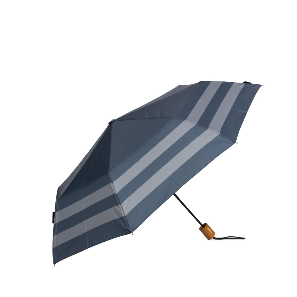 Drifter Capri - Navy and Grey Striped Umbrella