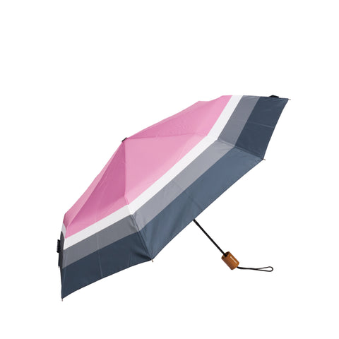 Drifter Positano - Pink, White, Navy and Grey Striped Umbrella