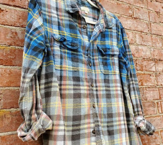 Distressed Flannel Shirt