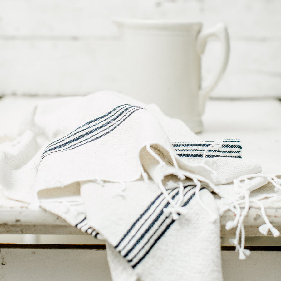 Hand-loomed Cotton Blend Hand Towel