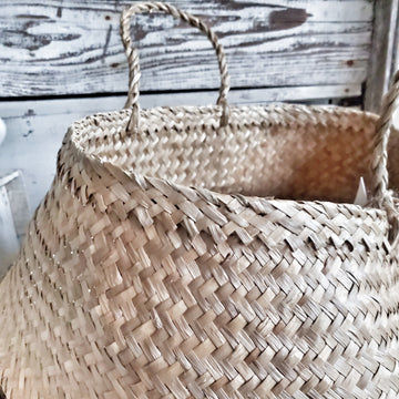 Large Collapsible woven basket