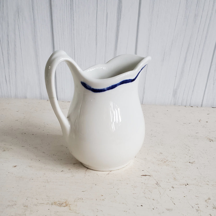 Vintage Ironstone Ox Yolk Advertising Diner Creamer