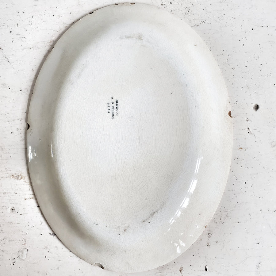 OVAL Derwood IRONSTONE PLATTER