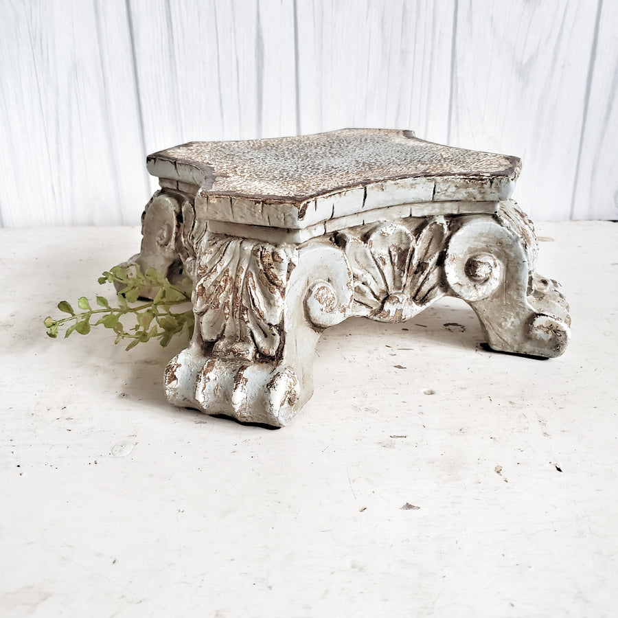 Architectural Column Base Riser Blue Gray