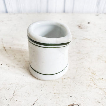 Small Vintage  Ironstone Creamer with Green Stripe