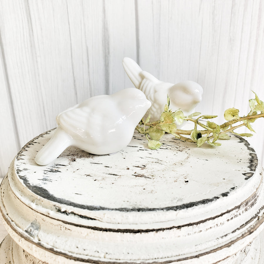 Little White Ceramic Bird Ellie
