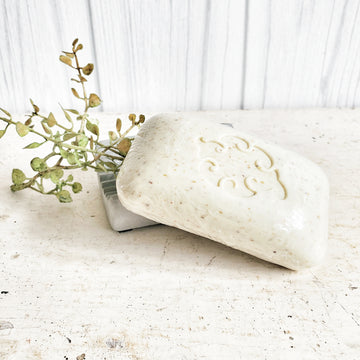 French Milled Loofa Bar Soap Mint