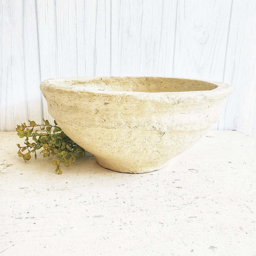 Small European Style Paper Mache Bowl