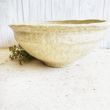 Large European Style Paper Mache Bowl