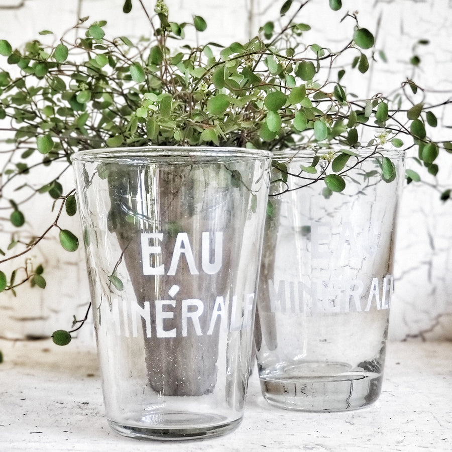 French Mineral Water (Eau Mineral) Drinking Glass Ea