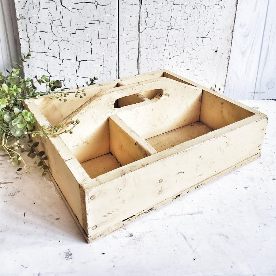 Chippy Vintage Wood Tool Tote