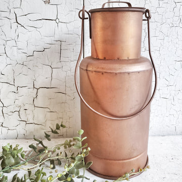 Vintage  Style Copper Pail with Lid