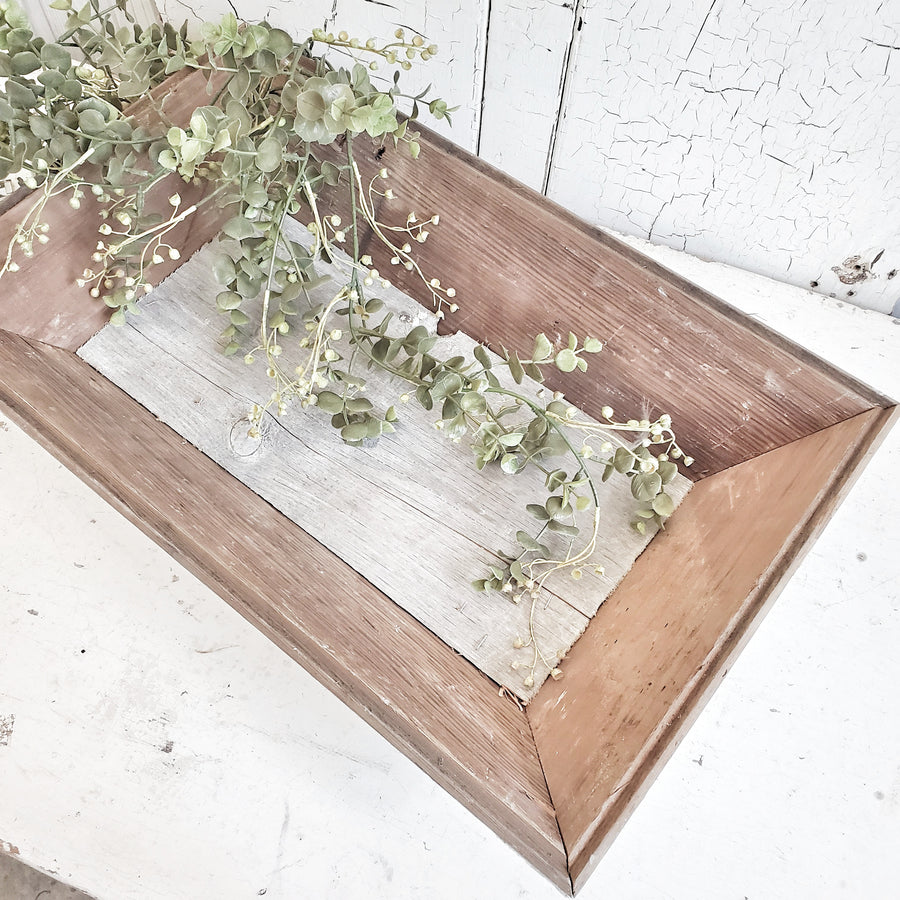 Vintage Style Chippy White Wood Tray