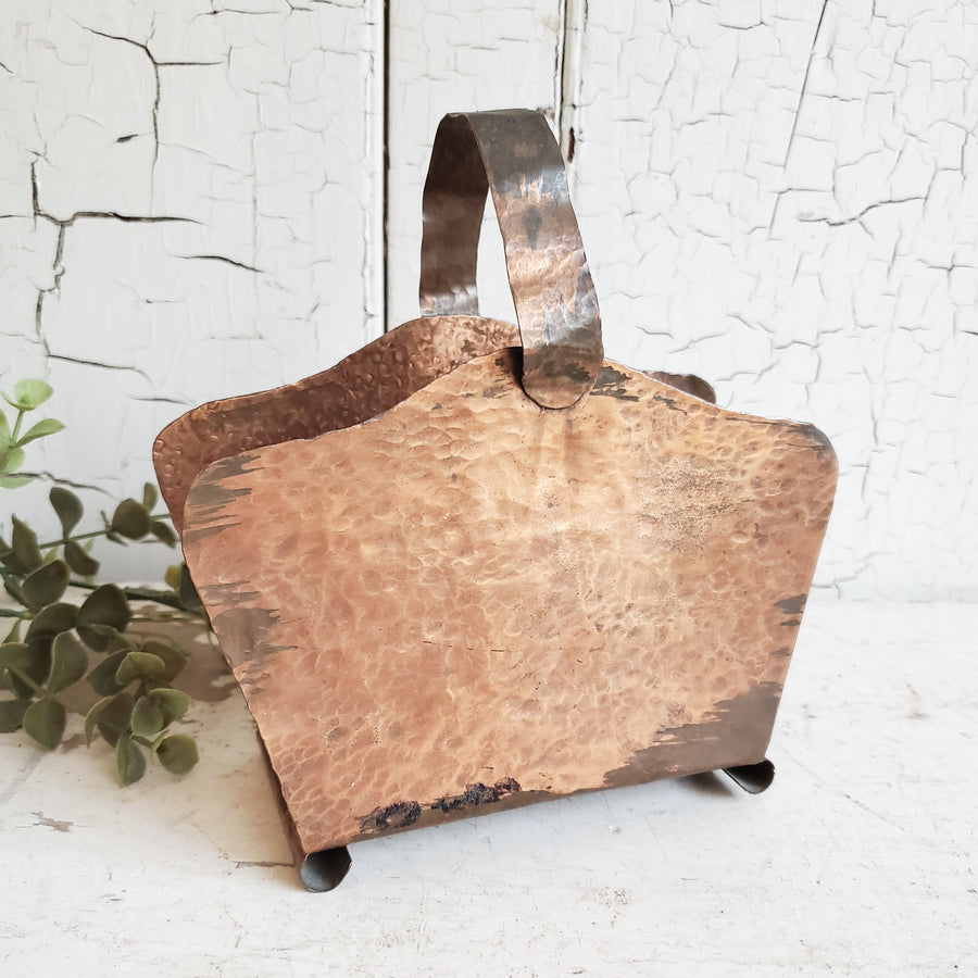 Vintage Handmade Hammered Copper Napkin Holder