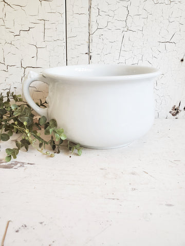 Vintage Ironstone Chamber Pot