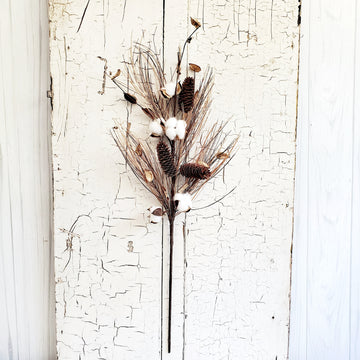 Twigs and Cotton Fall Floral Bunch