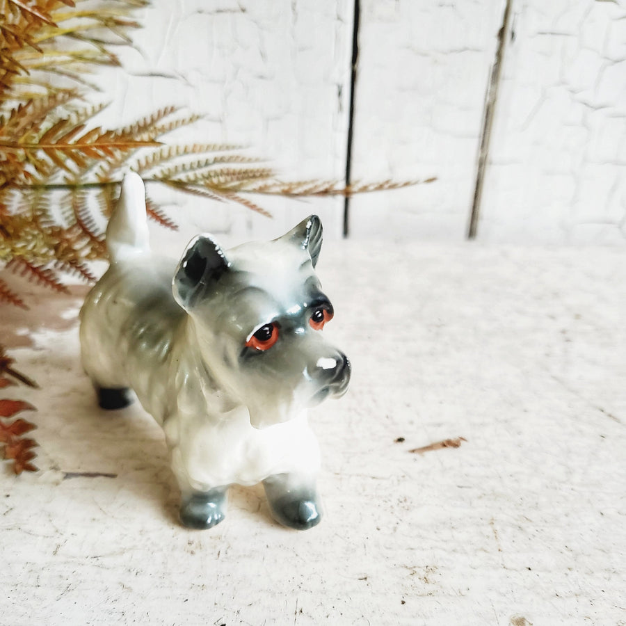Vintage Ceramic Dog- Terrier/Schnauzer