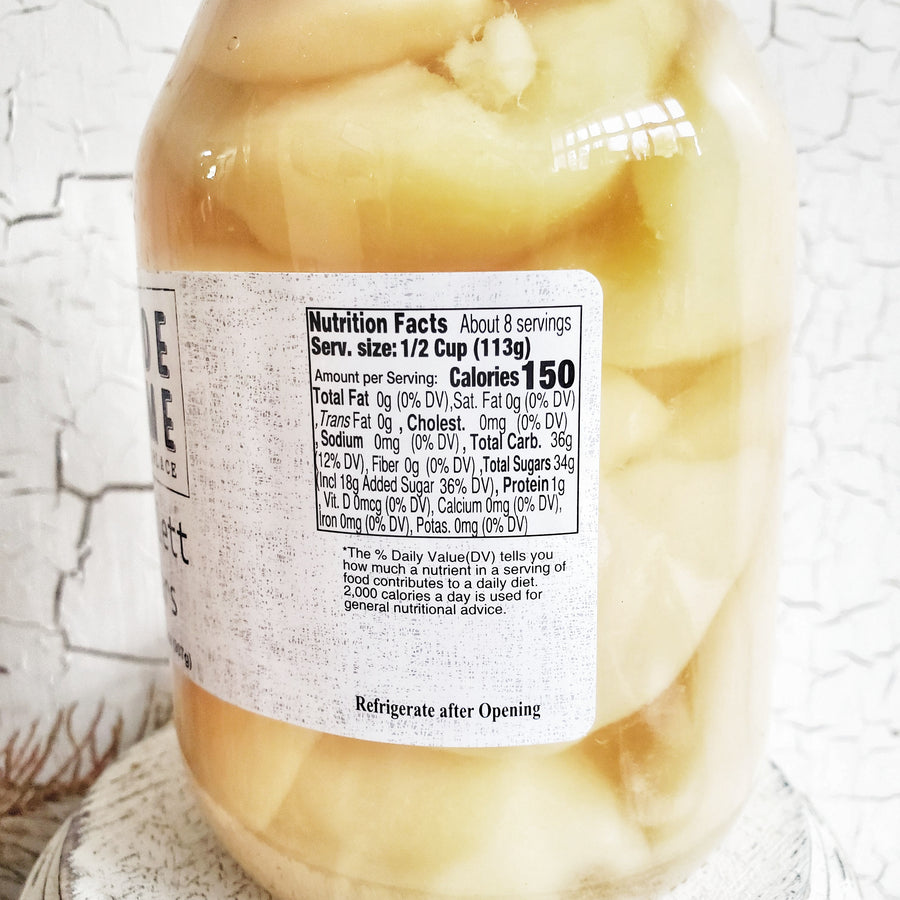 Quart SIZE Bartlett Pear Halves