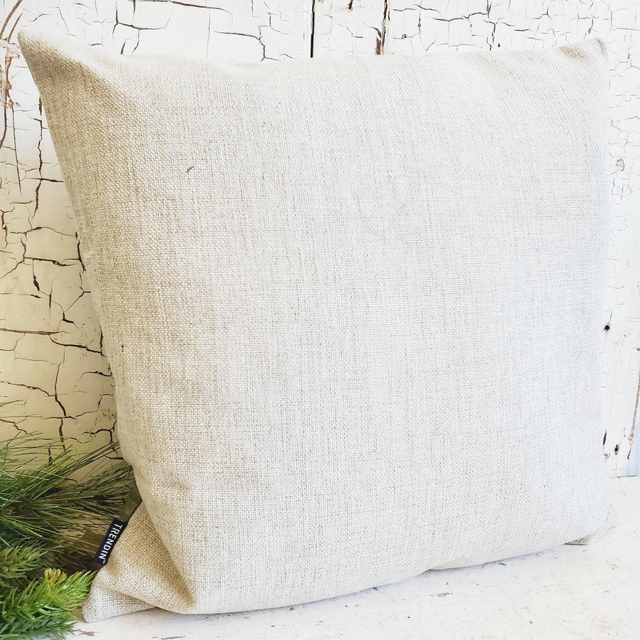 Large Distressed Green Be Merry Christmas Pillow