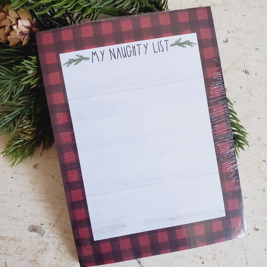 My Naughty List Notepad