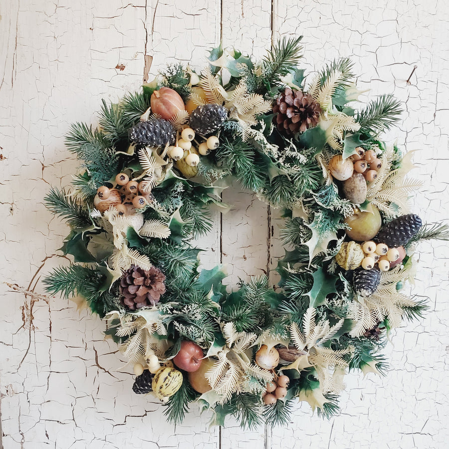 Vintage Plastic Christmas Wreath