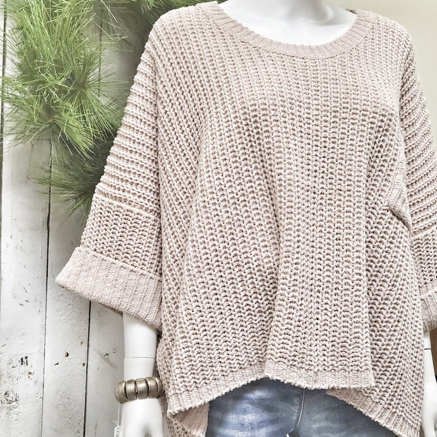 Oversized Super Soft Chenille Pullover Sweater