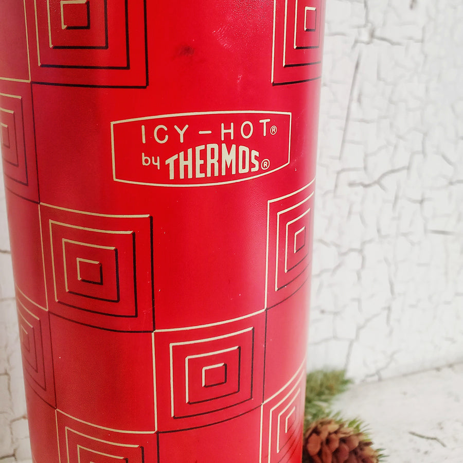 Vintage Tall  Red Thermos