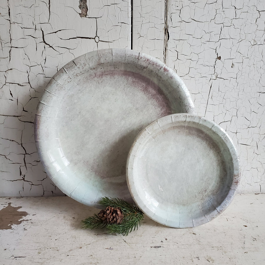 Stained Ironstone Paper Plates