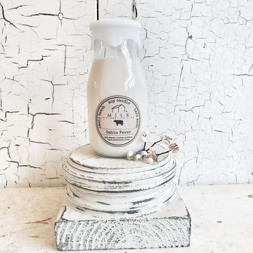 Milk Jar Soy Candle CABIN FEVER