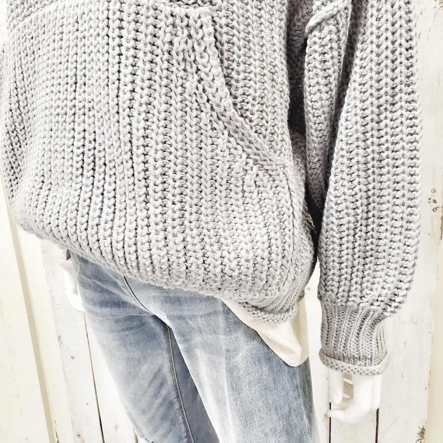 Front Pocket Slouchy Sweater