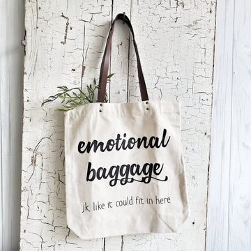 Canvas Emotional Baggage Tote