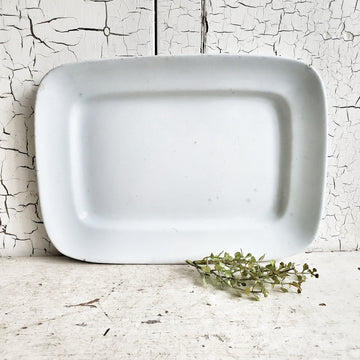 Vintage  Thick Square Meakin Ironstone  Platter