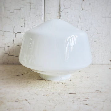 Old Vintage Schoolhouse Milk Glass Shade