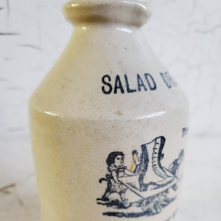 Old English  Stoneware Advertising Bottle