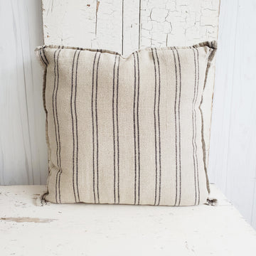 Large French Linen Pillow - Euro Size