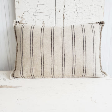 French Linen Pillow - Lumbar