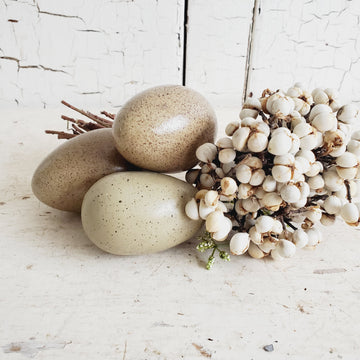 Glazed Neutral Shade Ceramic Egg