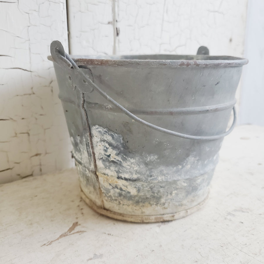 Vintage Galvanized Pail with Handle